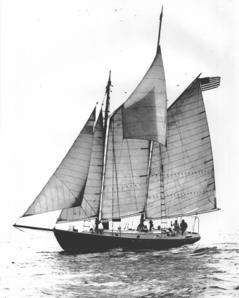Heart's Desire on the New England coast before her rebuild (pre 1979)