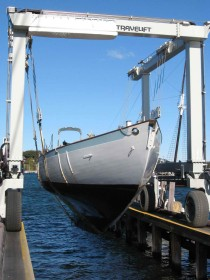 Haul out in October, 2010 before her re-fit.