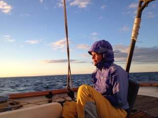 Sailing home from Nantucket, October 2013.