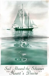Brochure for sailing on Heart's Desire - Camden, Maine.