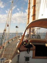 Sailing along off Cape Cod.