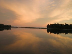 Sunset in MacDonald Cove.
