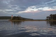 View from our mooring in Baddeck