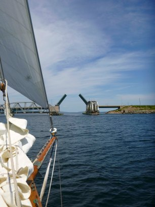 Barra Strait bridge opening.