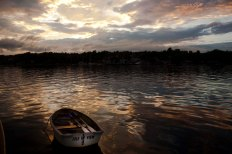 Great photo of our dinghy by Justin with North River Kayaks.
