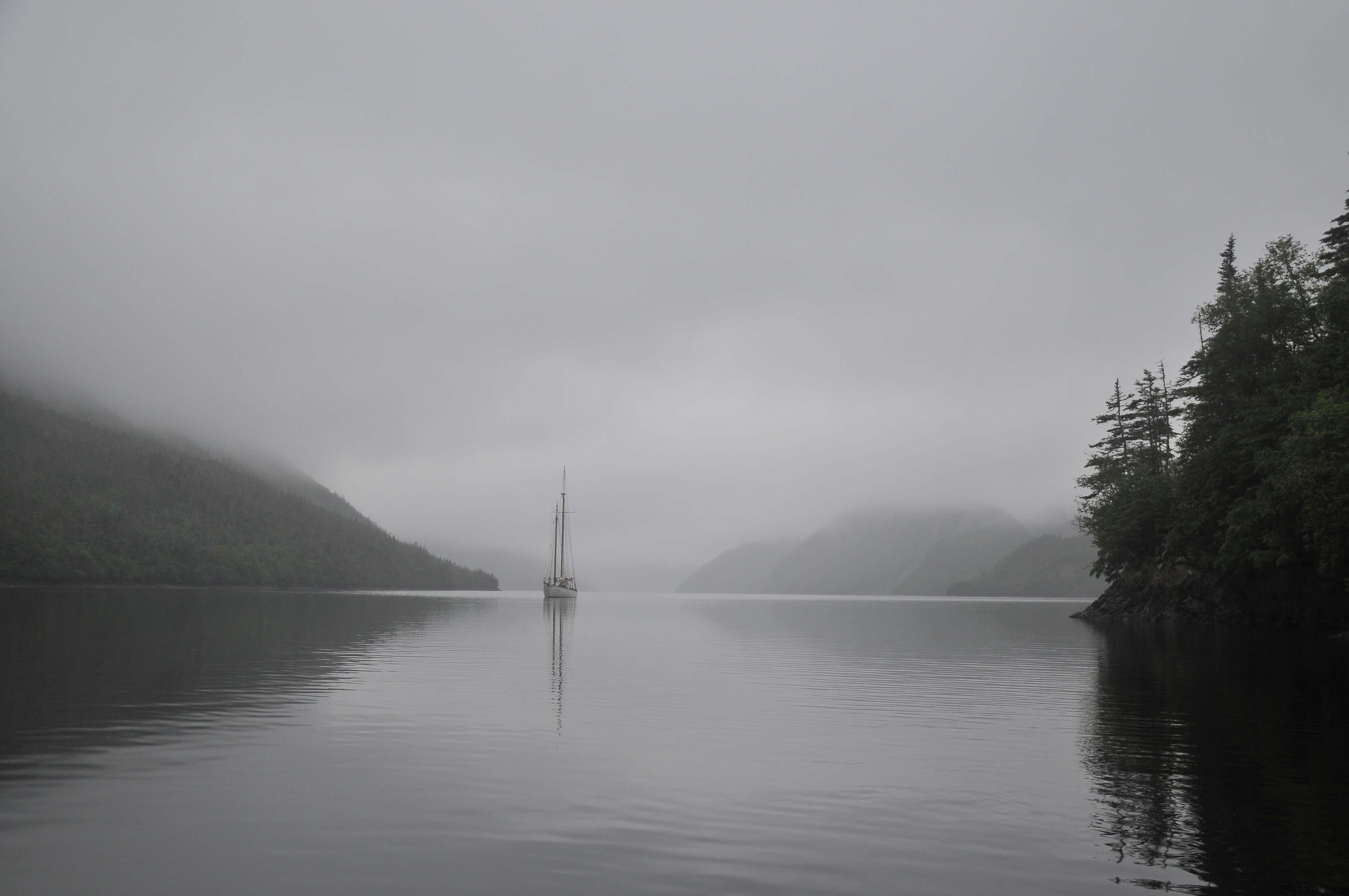 Southeast Arm of Grey River fjord, Newfoundland.