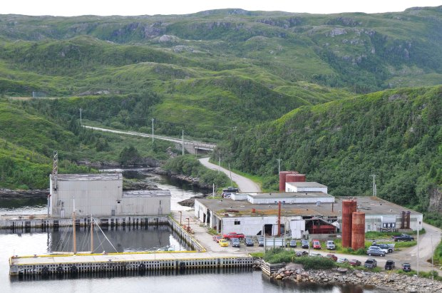 Old fish plant in Rose Blanche, Newfoundland. Opened in 1960 and closed in 1998.