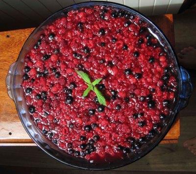 Raspberry blueberry tart!