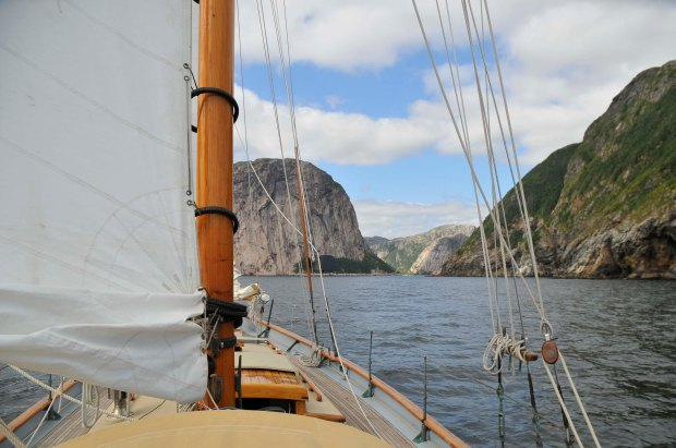 Sailing in Devil's Bay.