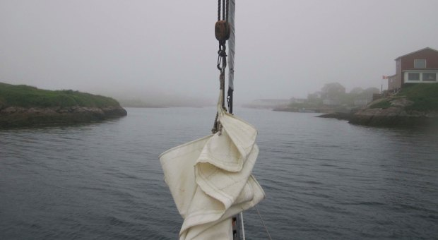 Entering Burgeo Harbour