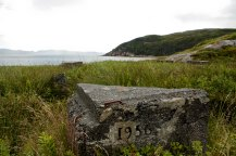 Remaining foundation in the village of Piccare, a resettled village in Newfoundland.