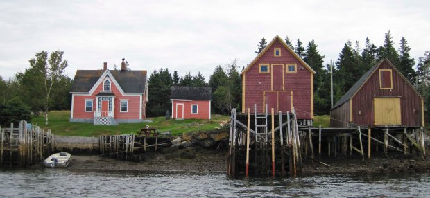 Houses on Hirtle Island, Nova Scotia.