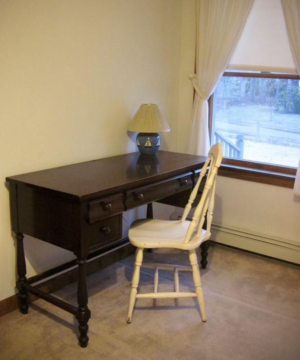 Desk space in downstairs bedroom.