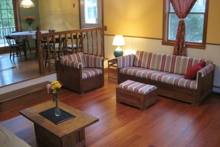 Living room seating area